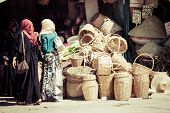 Marrakesh,Moroco,August 17,2013:Traditional Moroccan Market