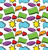 Speech bubbles seamless colorful pattern