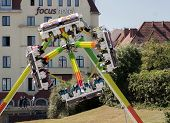 Rotating Carousel In Fun Park