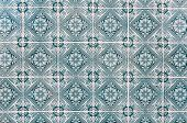 Background Made Of Portuguese Ceramic Tiles Called Azulejos