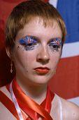 Great britain flag face art