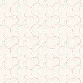 Abstract geometric line and round seamless pattern. Vector