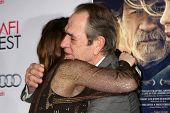 LOS ANGELES - NOV 11:  Grace Gummer, Tommy Lee Jones at the