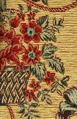 Pattern Of A Retro Floral Tapestry