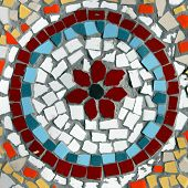 Colorful Wall Mosaic In The Form Of A Circle