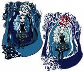 Gothic Girl in a Dark Frame