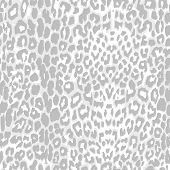 leopard print pattern gray scale vector