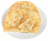 Chiburekki Pie On White Plate Isolated
