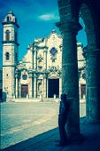 Vintage toned image of the The Havana Cathedral