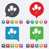 stock photo of roping  - Balloon sign icon - JPG