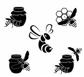 Honey vector icons