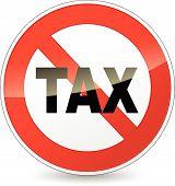 No Tax Sign