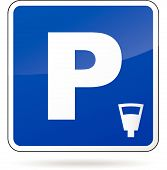 Blue Parking Sign