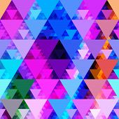 Pattern of geometric shapes. Triangles