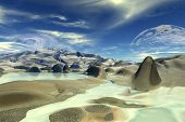 Unknown Planet. Mountains