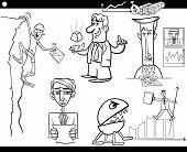 Business Cartoon Concepts And Ideas Set