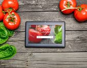 Cooking Recipes On Tablet Pc