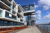 Modern Buildings called Kranhaus. Cologne