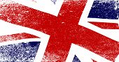 pic of flutter  - A faded British Union Jack flag fluttering - JPG