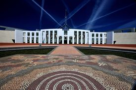 stock photo of prime-minister  - Parliament House Canberra Australia Close Up Shot - JPG