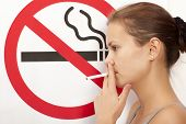 picture of smoking woman  - Woman - JPG