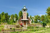 image of chapels  - Christian small chapel in Toba Lake Samosir island Indonesia North Sumatra - JPG