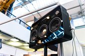 image of subwoofer  - Subwoofers on the road outdoors closeup photo