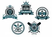 picture of marines  - Nautical and marine emblems or icons with anchors - JPG