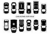 foto of ambulance car  - Car icons top view - JPG
