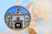 image of faro  - Looking in on Lisbon Arc da Villa in Faro Algarve Portugal - JPG