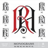 pic of rn  - Vintage monogram set - JPG