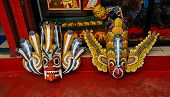 picture of mystical  - Mystical wooden masks on the island of Sri Lanka - JPG