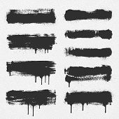 image of messy  - A collection of vector brush strokes - JPG