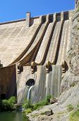 stock photo of hydroelectric  - Hydroelectric dam with blue sky in Spain - JPG