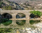image of old bridge  - The old bridge in the old town Risan