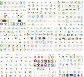 stock photo of geometric  - Logo mega collection - JPG
