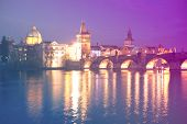 ������, ������: Lesser Bridge Tower of Charles Bridge in Prague Karluv Most the Czech Republic This bridge is the