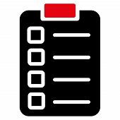 stock photo of tasks  - Test task icon from Business Bicolor Set - JPG