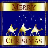 Merry Christmas Blue Wisemen