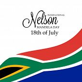 foto of nelson mandela  - Creative a beautiful greeting card for International Nelson Mandela Day - JPG