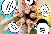 stock photo of shout  - friendship - JPG