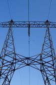 pic of power transmission lines  - supports of high - JPG