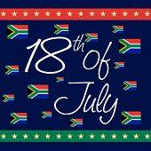 foto of nelson mandela  - illustration of stylish text for International Nelson Mandela Day - JPG