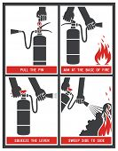 picture of fire extinguishers  - Fire extinguisher label - JPG