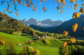 pic of south tyrol  - The mountain village and church of St - JPG