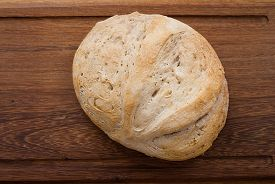 foto of home-made bread  - home made bread on wooden board  - JPG