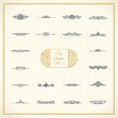 New Calligraphic Page Divider set and Element of vintage ornament. Elements for retro logo and vecto poster
