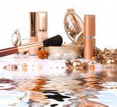 cosmetics isolated on white background
