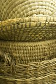 Stack of rustic baskets