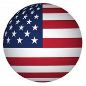 stock photo of usa flag  - sphere USA flag - JPG